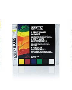 Golden Heavy Body Acrylic Intro Set/6 20ml Tubes