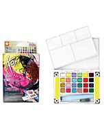 Koi Watercolor Metallic/Flourescent Set of 24 Colors
