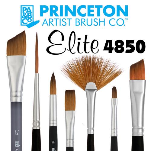 Princeton 4850 Elite Short Handle Synthetic Kolinsky Sable