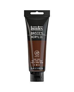 Liquitex Basics Acrylic - 4oz - Burnt Umber