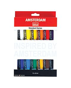 Amsterdam Acrylic Standard Colors 12 Color Intro Set 20ml