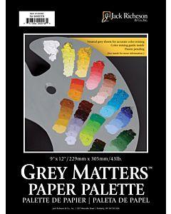 "Grey Matters 50-Sheet Paper Palette Pad 9x12"""