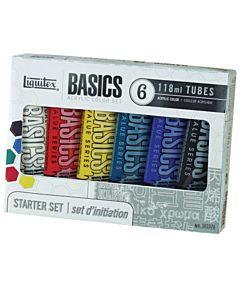 Liquitex Basics Starter Set of 6 118ml Tubes