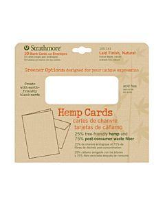 "Strathmore Greener Options Hemp Card 10-Pack 5x7"" - Natural (Laid finish)"