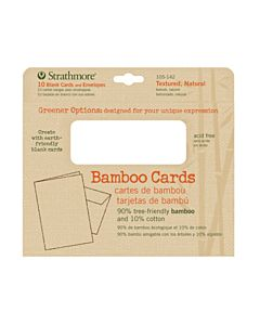 "Strathmore Greener Options Bamboo Card 10-Pack 5x7"" - Natural (Textured)"