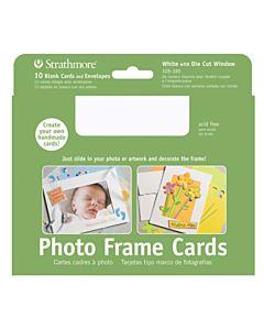 """Strathmore Photo Frame Card/Envelopes White 10 Pack - 5-7/16x7-1/4"""""""