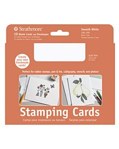 Strathmore Stamping Card/Envelopes 3.625X5.125 - White