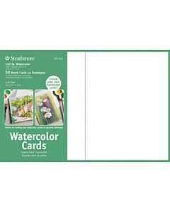 Strathmore Watercolor Greeting Cards 50 Pack 5-1/4x7-1/4