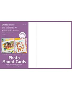 Strathmore Photomount Card/Envelopes Decorative Embossed White 50 Pack - 5x6.875""