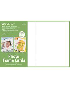 """Strathmore Photoframe Card/Envelopes White 40 Pack -  5x6.875"""""""