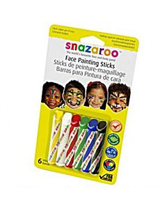 Snazaroo Face Painting Sticks (Set of 6)
