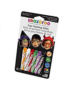 Snazaroo Face Paint 6 Stick Halloween Set