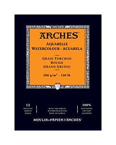 "Arches Natural White Watercolor Pad 9x12"" 140lb Rough"