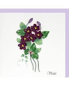 Quilling Card - Violet