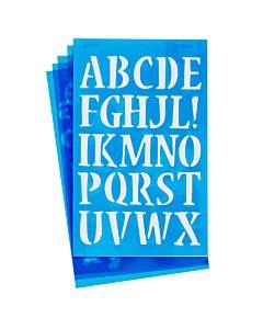 "Westcott Lettercraft Stencil - Nueva 3/4"" & 1"""