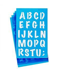 """Westcott Lettercraft Stencil - Markers 3/4"""" & 1"""""""