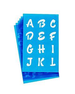 "Westcott Lettercraft Stencil - Candy 3/4"" & 1"""