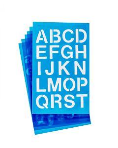"Westcott Lettercraft Stencil - Helvetica 3/4"" & 1"""