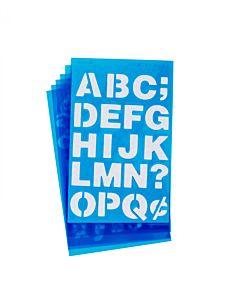 "Westcott Lettercraft Stencil - Helvetica Bold 3/4"" & 1"""