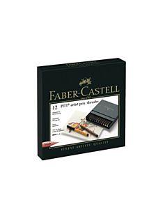 Faber-Castell PITT Brush Pen Set of 12 - Assorted Colors