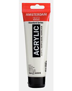 Amsterdam Acrylic Color - 120ml - Zinc White #104