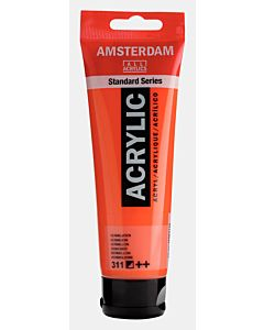 Amsterdam Acrylic Color - 120ml - Vermilion #311