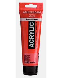 Amsterdam Acrylic Color - 120ml - Pyrrole Red #315