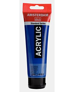 Amsterdam Acrylic Color - 120ml - Phthalo Blue #570