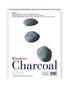 "Strathmore 500 Charcoal Paper 25 Sheet Pad - 9x12"" - White"