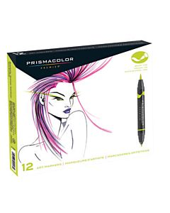 Prismacolor Brush Tip Markers Set of 12 - Primary/Secondary Colors