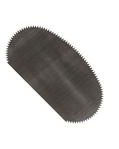 Scraper Serrated Oval 1Flat