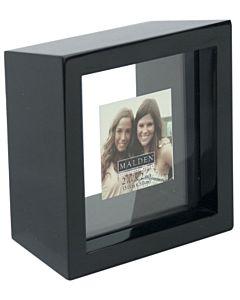 Malden Designs - Linear Series Black Frame - 8x8 Opening 4x4 Mat