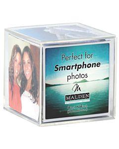 Malden Designs - 9 Photo Acrylic Cube For 4x4 Photos