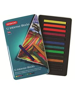 Derwent Inktense Blocks 12-Color Tin