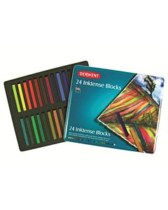 Derwent Inktense Blocks 24-Color Tin