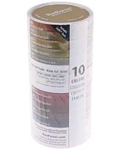 PanPastel Soft Pastels - Set of 10 - Extra Dark Warm Shades
