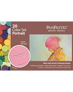 PanPastel Soft Pastels - Set of 20 Colors Portrait