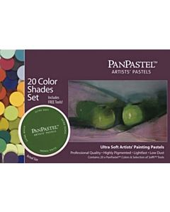 PanPastel Soft Pastels - Set of 20 Colors Shades