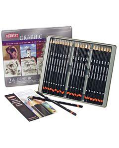 Derwent Graphic Drawing Pencils Complete Set of 24