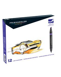 Prismacolor Premier Art Markers Set of 12 - Primary/Secondary Colors