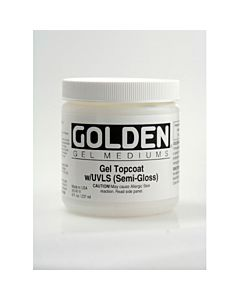 Golden Gel Topcoat Semi Gloss 8oz