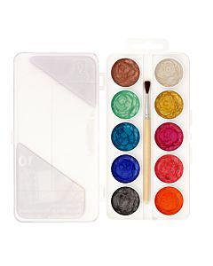 Semi Moist Watercolor Pearl Set 10