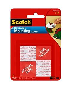 Scotch #108 Removable Mounting Squares 1x1""