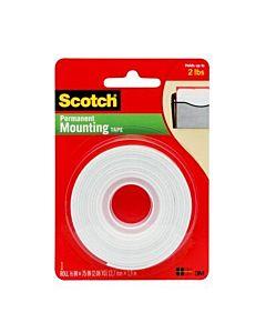 "Scotch #110 Permanent Mounting Tape 1/2"" x 75"""