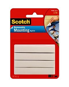 Scotch Removable Mounting Putty 2oz White