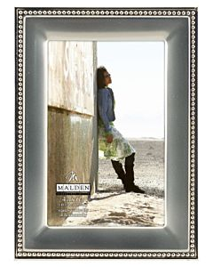 Malden Designs - Two Tone Silver Beaded Frame 4x6
