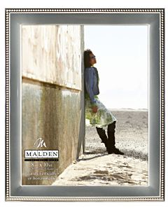 Malden Designs - Two Tone Silver Beaded Frame 8x10