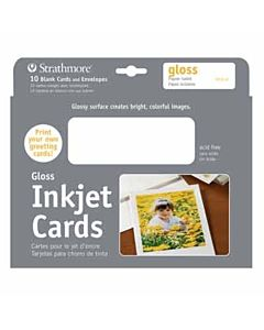 """Strathmore Ink Jet Cards Glossy 10-Pack 5x7"""""""