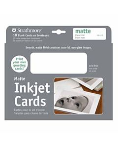 """Strathmore Ink Jet Cards Matte 10-Pack 5x7"""""""