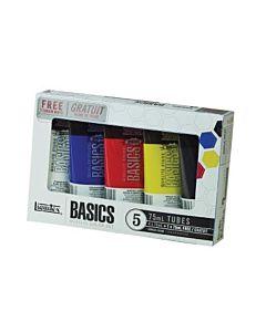 Liquitex Basics Acrylic Set 5 Tubes 75ml